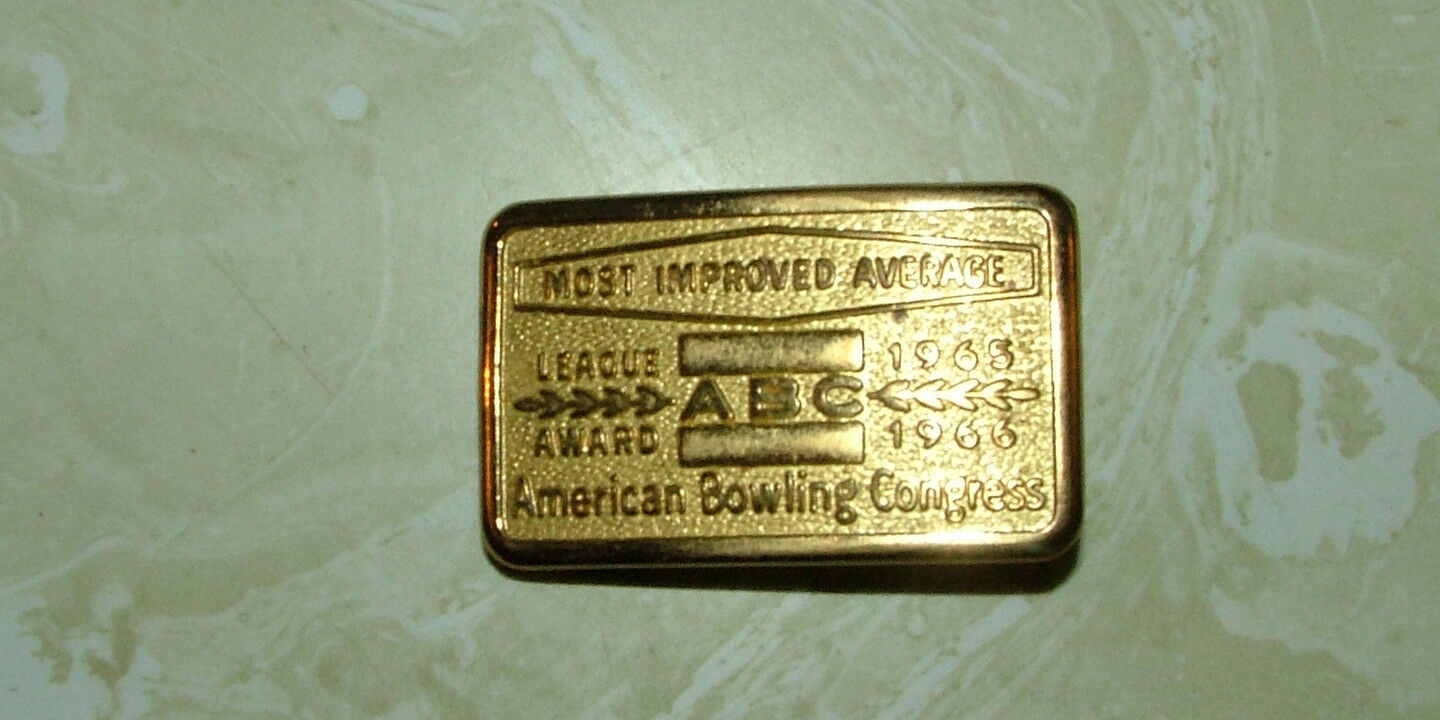 American Bowling Congress Most Improved Bowler Buckle 1965/66