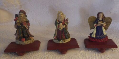 "Set of Christmas Stocking Hangers Hanger Angel Angels 5"" Tall"