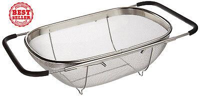 Uniware 3702 Over Sink Stainless Steel Adjustable Colander Strainer