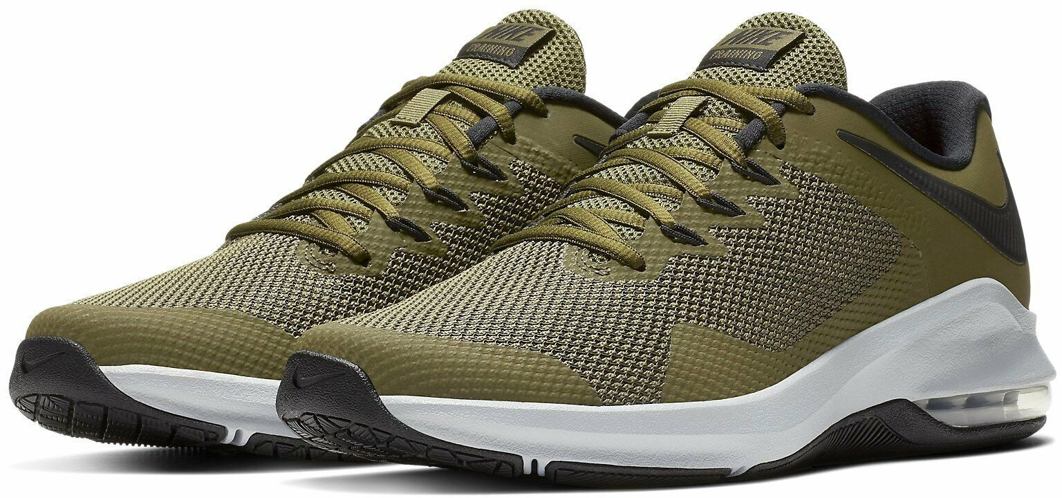 Nike Air Max Alpha Trainer Training Shoes Olive Green Black AA7060 300 Men's NEW