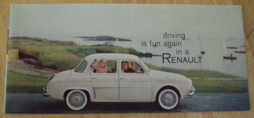 """VTG 1958 AUTOMOBILE Brochure """"RENAULT""""~FANTASTIC!~"""