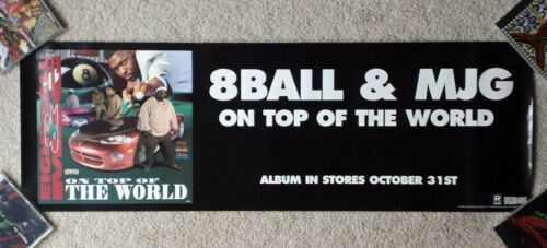 Eightball & MJG On Top of the World promo poster 8ball rap Pixel Master P 1995