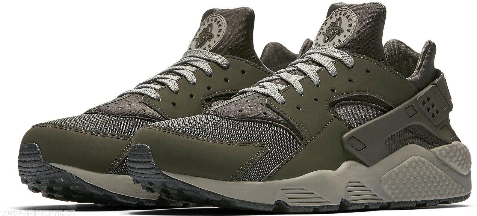Nike Air Huarache Sequoia Olive Grey 318429-311 Men Size 13 Running Training