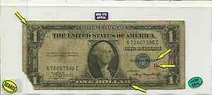 Series of 1935 A $1 Dollar Silver Certificate US Small Currency Note CUR316