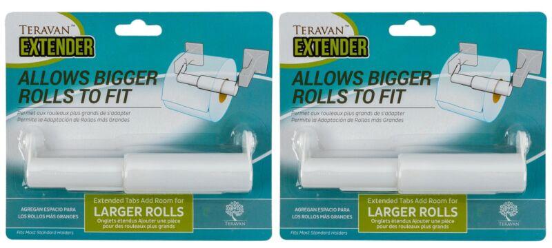 Teravan Standard Extender For Larger Toilet Paper Rolls - Pack of 2