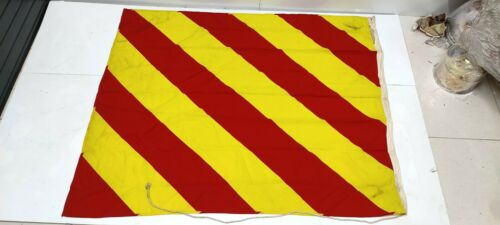 Authentic Nautical Vintage Style marine Ship Country & Signal Used Flag MF001