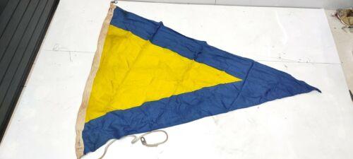 Authentic Nautical Vintage Style marine Ship Country & Signal Used Flag MF019