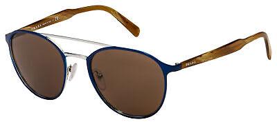 Prada Sunglasses PR 62TS KI88C1 54 Blue/Silver Frame | Brown (Blue Prada Sunglasses)