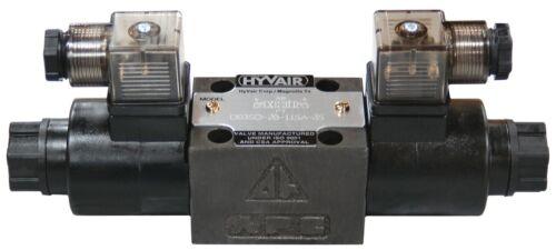 HYVAIR VALVE D03SD-2B-24D-35 DOUBLE SOLENOID DIRECTIONAL VALVE