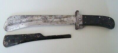 VINTAGE WW2 WWII CATTARAUGUS USA PILOT FOLDING SURVIVAL MACHETE KNIFE W/ GUARD