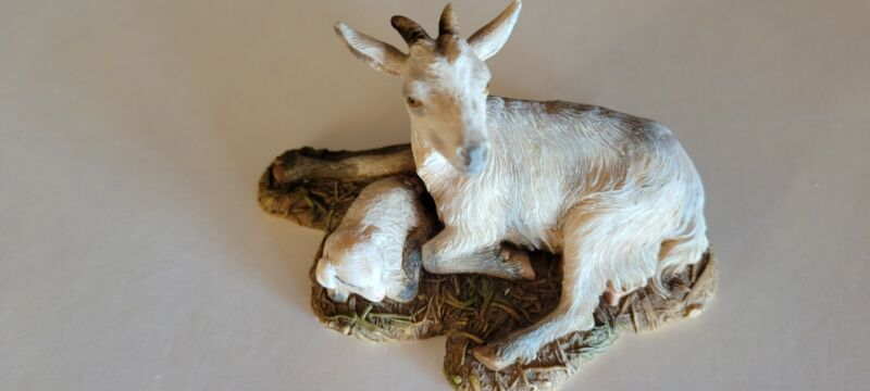 """MAMA SAYS DEMDACO NATIVITY COLLECTION """"THE GOATS"""" FIGURINE By Kathy Fincher"""