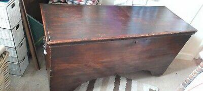 Antique Dark Oak Coffer / Trunk / Blanket Box / Chest - 18th Century, rustic.