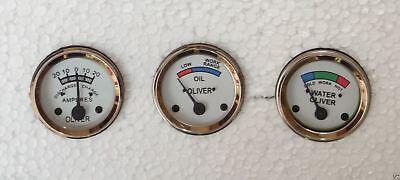 Oliver Tractor Temp Oil Ampere Gauges Super 44 55 66 77 88 440 660 White Face