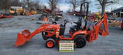 2019 Kubota Bx23s Compact Loader Tractor Wbackhoe Mower. 47 Hours Warranty