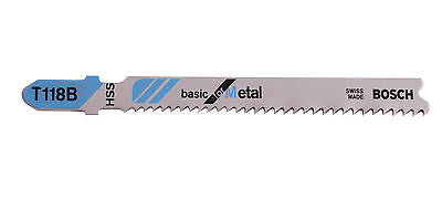 Bosch T118B Metal Jigsaw Blades Pack of 3 Designed for Metal