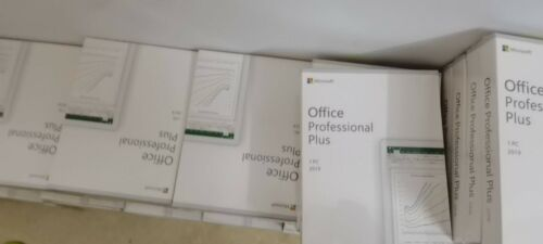 Microsoft Office Professional Plus 2019 Retail 1 PC License Key Card with DVD