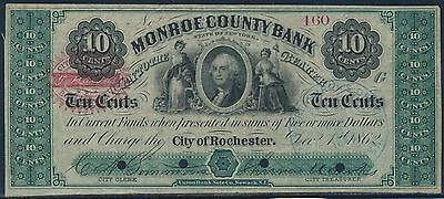 10  Monroe County Bank City Of Rochester No  160 Dec 1 1862 Br9438