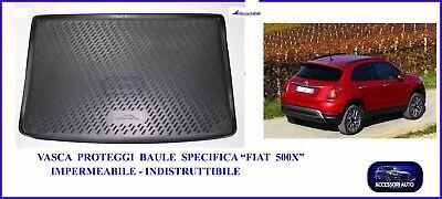 Vasca Proteggi Baule Auto - Pedana Protezione Bagagliaio - Specifica Fiat 500X