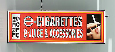 Business Led Lighted Box Sign E - Cigarettes Accessories Sold Here