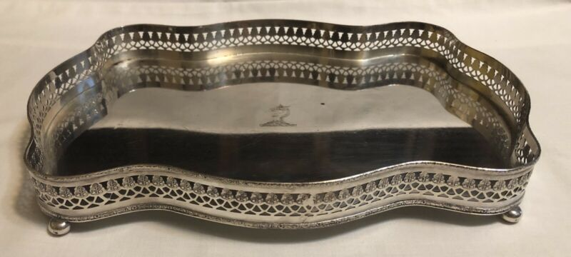Cheltenham and Company Ltd England Silver on Copper Footed Tray