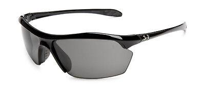 New Under Armour Zone XL Sunglasses Shiny Black Frame Gray Lens 8600023-5100