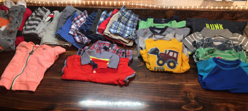 Baby Boy Clothes 9 Months Lot 28 Pieces