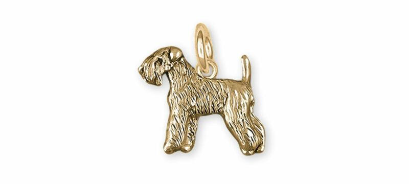 Soft Coated Wheaten Terrier Jewelry 14k Gold Handmade Wheaten Charm  SCW121X-CG