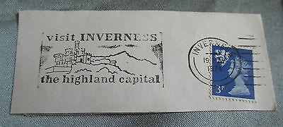 Inverness Postmark 1974 Highland Franked Cancel