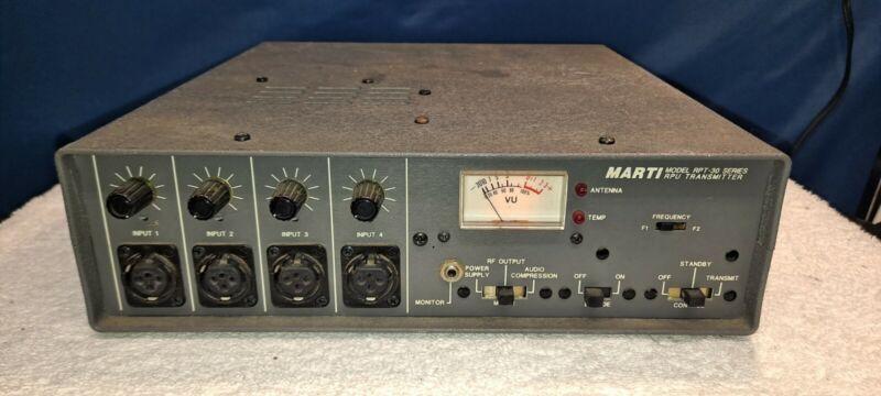 Marti Electronics RPT 30 rpu transmitter RPT-30