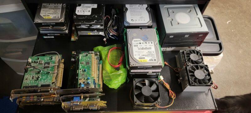 Massive Computer Parts Lot Laptop Desktop Memory, Hard Drives, Cpu