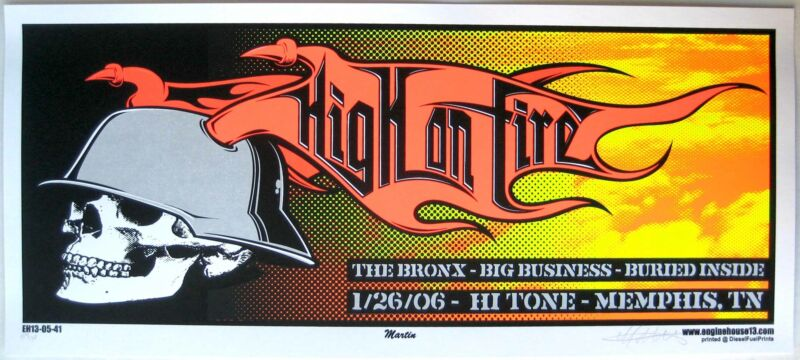 High On Fire Concert Poster 2006 EngineHouse13