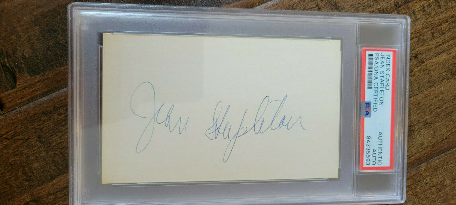 JEAN STAPLETON SIGNED 3X5 INDEX CARD ALL IN THE FAMILY EDITH BUNKER SLAB PSA DNA - $84.99