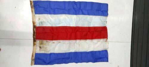 Authentic Nautical Vintage Style Marine Ship Country & Signal Used Flag FLC28