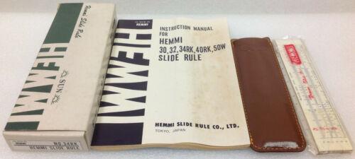 Vintage Sun Hemmi Slide Rule No.34RK - Tokyo Japan ~New, Old Stock~