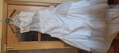 Designer wedding dress uk10. Ex shop sample