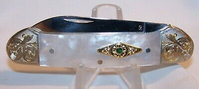 Case XX Knife-Mother of Pearl Canoe-Scrolled Bolsters-Limited Edition 2002