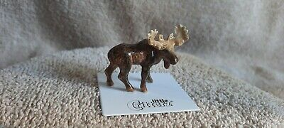 """LITTLE CRITTERZ Moose """"Bull"""" Miniature Figurine New FREE SHIPPING LC966"""