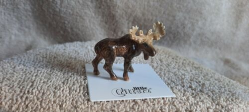 "LITTLE CRITTERZ Moose ""Bull"" Miniature Figurine New LC966"
