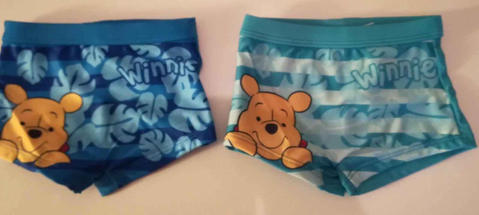 Disney Winnie Pooh Badehose Badeboxer Baby Gr. 68 - 86 blau türkis