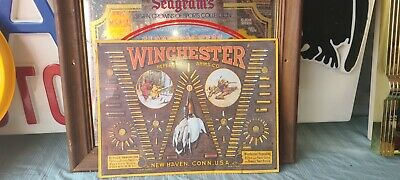 Winchester advertising metal sign