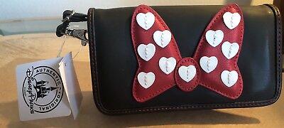 Disney Parks Minnie Mouse Bow Phone Purse Credit Card Holder Crossobdy Mini Bag (Mini Mouse Bow)