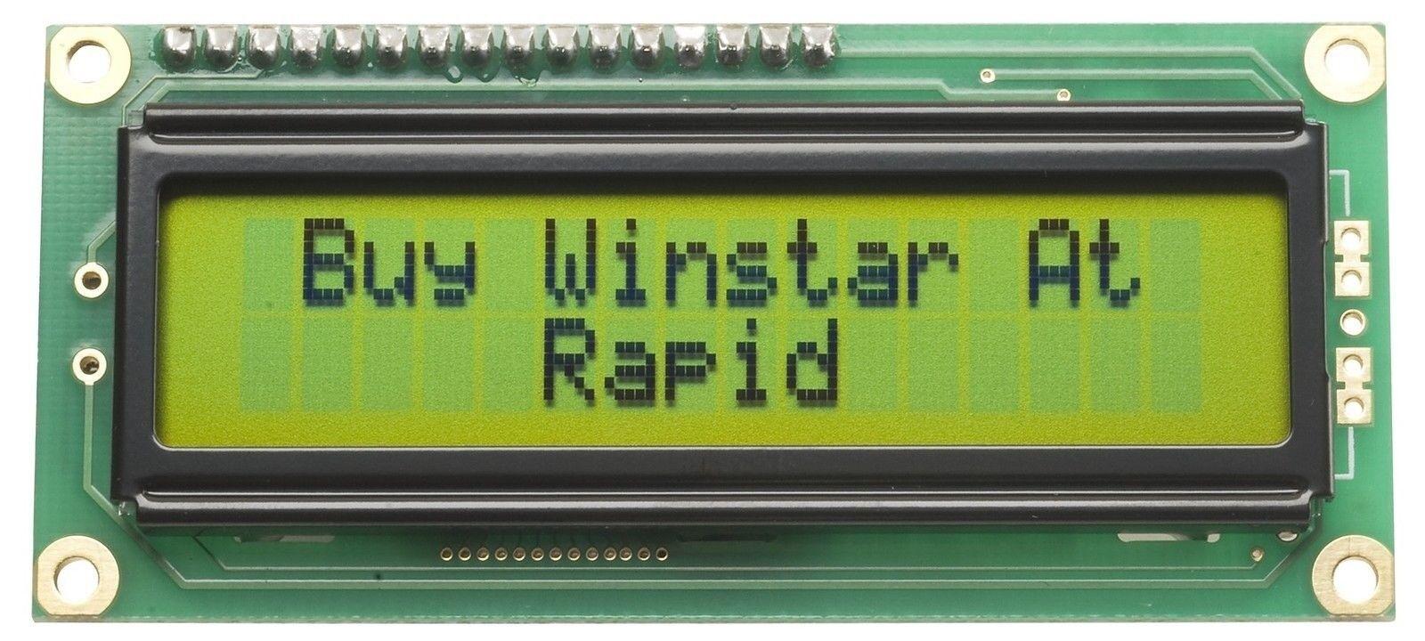 WINSTAR WH1602B-NYG-JT 16x2 LCD Display Riflettente