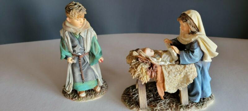 MAMA SAY NATIVITY COLLECTION DEMDACO HOLY FAMILY FIGURES By Kathy Fincher