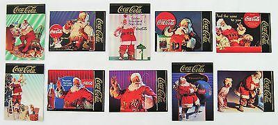 Coca Cola Santa Series 4 Gold Foil 10 Card Subset - 1995 NEW
