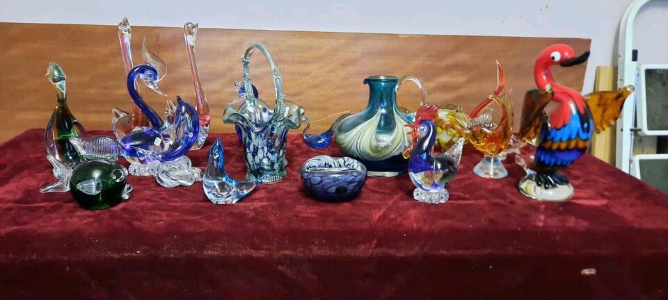 Antik Alt Murano Glas Muranoglas Glaskunst Farbigeglas Kunstwerk in Groß-Gerau