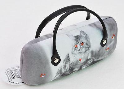 Brillenetui Katzen Designer Mario Moreno Brillenbox Katze Brille Etui Neu OVP