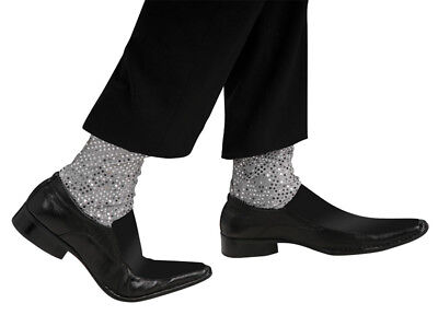 Michael Jackson Sparkle Socks Child Pop Star Silver Costume Accessory Rubies](Michael Jackson Sparkle Socks)