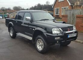 NO DENTS 54 reg Mitsubishi L200 2.5TD Warrior, Leather P/X, Finance,Credit cards Welcome