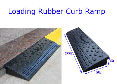 Intbuying 4 Rubber Loading Dock Rubber Curb Ramps 20 Ton Heavy Duty Car Ramp