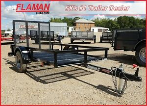 Diamond C 4' x 8' Utility Trailer - Expanded Metal Flooring!